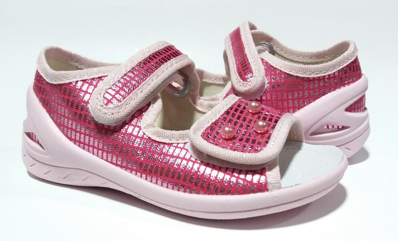 Босоножки Валди для девочки ортопедические, Єва рожева перлинки, срібло 24,25,26,28,29,30 раз.