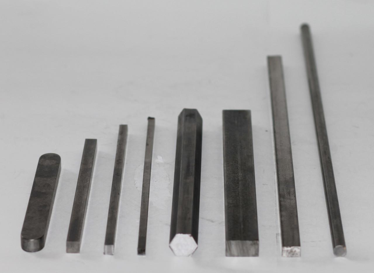 Шпоночный материал стальной 22х14х4000 мм ст 45 шпонка