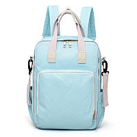 Вместительный рюкзак-органайзер для мам голубого цвета, фото 1