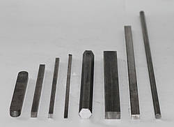 Шпонковий матеріал сталевий 12х8х4000 мм ст 45 шпонка