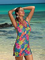 Модная и стильная пляжное платье-туника — незаменимый аксессуар настоящей модницы из легкого материала в невероятно яркой расцветке от лучшего