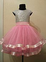 Платье на девочку Сердце. Размеры от 3 до 10 лет