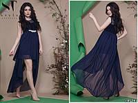 cb19f6aa69b Легкое воздушное платье с хвостом и украшением на талии размеры S-L