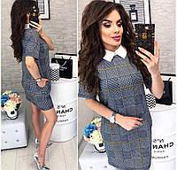 552dee3311a Стильное женское платье с воротничком ткань