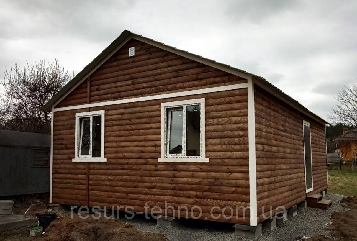 Дачный домик из блокхауса 9м х 6м