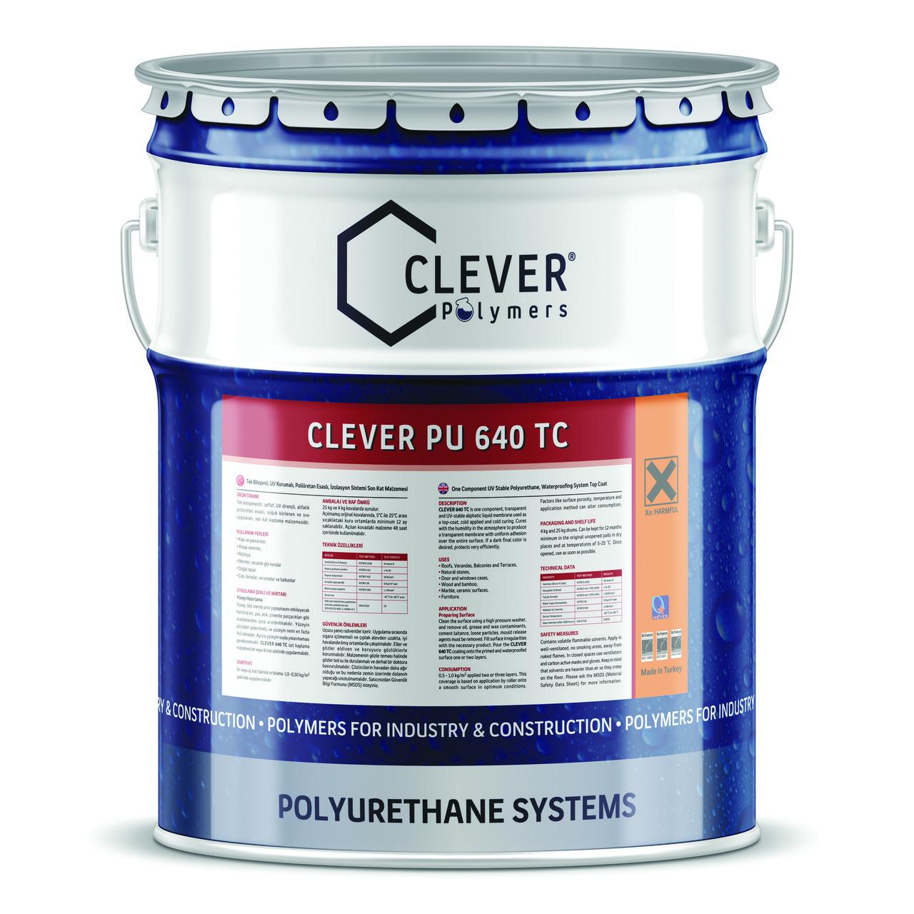 Защитное финишное покрытие CLEVER PU 640 TC (4 кг)