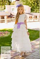 """Детское нарядное белое платье """"Фэри"""""""