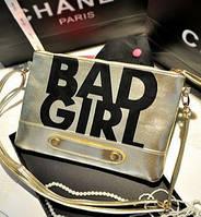 Клатч с модным принтом Bad Girl!