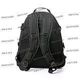 Тактический, городской рюкзак 30 литров черный 161/01 без MOLLE, фото 3