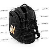 Тактический, городской рюкзак 30 литров черный 161/01 без MOLLE, фото 5