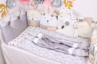 Комплект в кроватку в Нежно молочных цветах