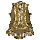 """Тактический рюкзак крепкий """"Cool walker"""" светлый пиксель 50 литров., фото 4"""