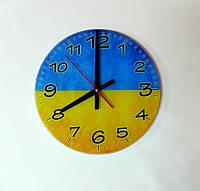 Настенные стеклянные часы ручной работы 250х250