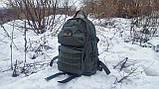 Тактический туристический крепкий рюкзак трансформер 40-60 литров афган. Нейлон 600 Den., фото 4