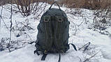 Тактический туристический крепкий рюкзак трансформер 40-60 литров афган. Нейлон 600 Den., фото 5