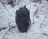 Тактический туристический крепкий рюкзак трансформер 40-60 литров афган. Нейлон 600 Den., фото 6