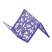 Подставка для визиток металлическая Buromax BAROCCO, фиолетовая (BM.6226-07)