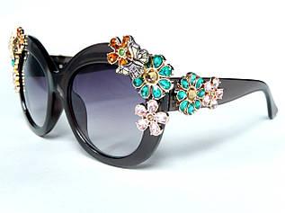 Очки с цветами из кристаллов в стиле D&G (коллекция ENCHANTED BEAUTIES) )