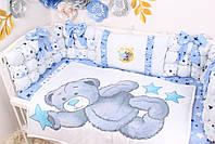 Комплект в кроватку Мишка Тедди в голубом цвете, фото 2
