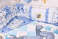 Комплект в кроватку Мишка Тедди в голубом цвете, фото 5