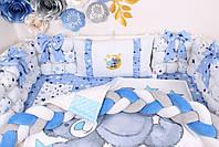 Комплект в кроватку Мишка Тедди в голубом цвете, фото 6