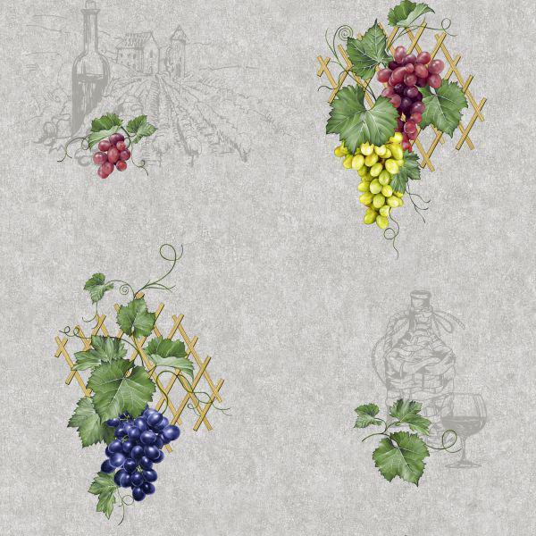 Шпалери Континент мийка Виноград сірий 0.53x10.05м. 2