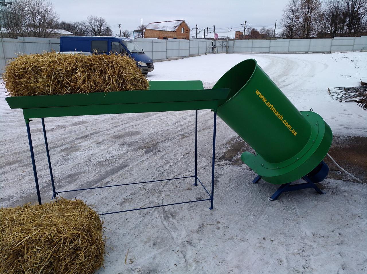 Измельчитель сена промышленный 380 В, 18,5 кВт (сенорезка, сеноизмельчитель, сенодробилка)