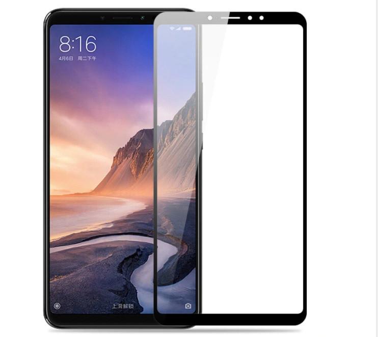 Защитное стекло для Xiaomi Mi Max 3 Full Glue Черное