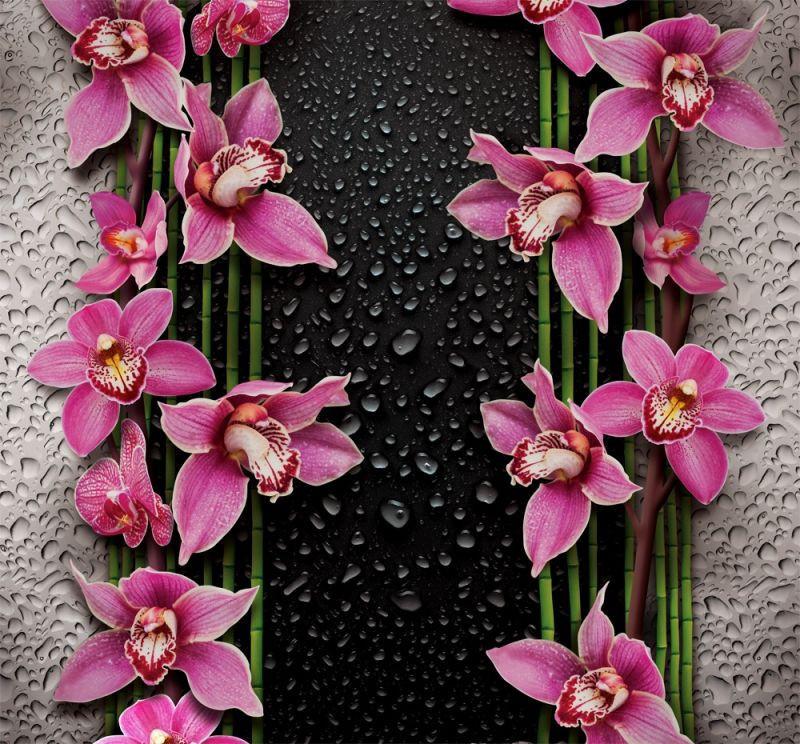 Фотошпалери Малинові орхідеї 196*210 (12лист)