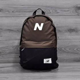 Трендовый рюкзак New Balance, Нью Бэланс. NB. Коричневый с черным