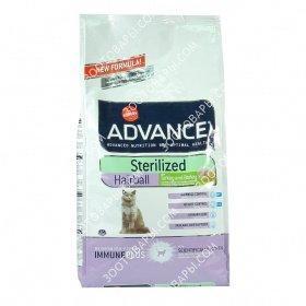 Advance Sterilized Cat Hairball Turkey & Rice Корм для кошек не покидающих помещение с индейкой, 10 кг
