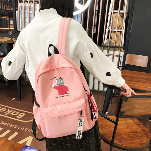 Молодежный рюкзак розовый