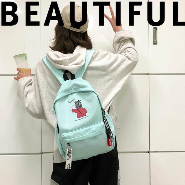 Молодежный рюкзак мятный