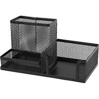 Подставка для офисных принадлежностей металлическая Axent, черная (2116-01-A)