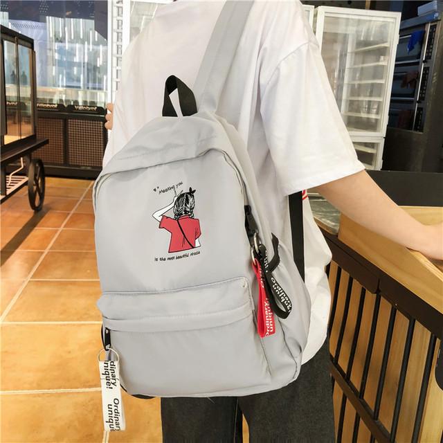Молодежный рюкзак серый