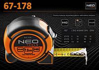 Рулетка с нейлоновой лентой  7,5м х 25мм., NEO 67-178, фото 1