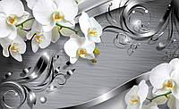 Фотообои 3D цветы (флизелин, винил) 312х219 см  : Орхидеи и темные линии (2158.20664)