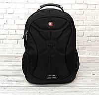 Вместительный рюкзак в стиле SwissGear Wenger, свисгир. Черный. + Дождевик. 35L / s6022 black