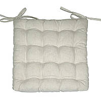 Подушка на стул Кедр на Ливане квадратная стеганная серия I 37x37x5 см Натуральная (1007)