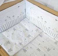 """Постельный набор в кроватку  """"Зайка"""" 6 предметов ( бампер на все стороны кроватки из 2частей), фото 1"""