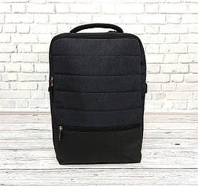 Качественный рюкзак Shaolong с отделом для ноутбука + USB. Темно серый.