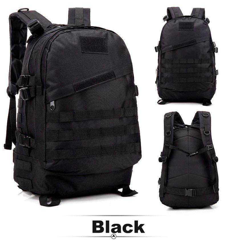 Тактический, походный рюкзак в стиле Military. 30 L. Черный, милитари.  / T402