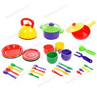 Большой набор детской игрушечной посуды