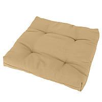 Подушка на стул Кедр на Ливане квадратная стеганная серия Color 40x40x5 см Бежевый (1056)