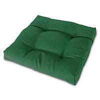 Подушка на стул Кедр на Ливане квадратная стеганная серия Color 40x40x5 см Зеленый (1029)
