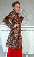 Шуба-пальто из леопарда. Модель 200201947, фото 1