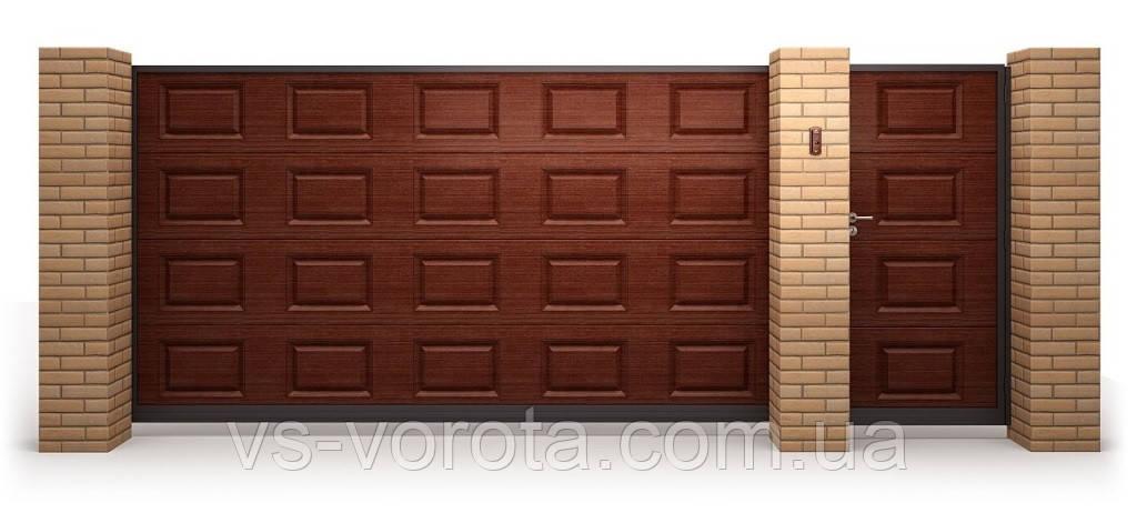Откатные ворота сендвич панель Филенка, размер 4200х2200