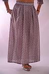 Костюм женский  прошва кос 002-3, юбка в пол и жакет лен ., фото 4