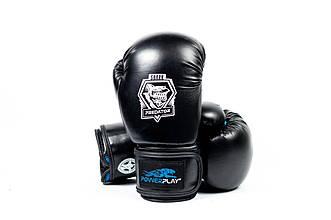 Боксерські рукавиці PowerPlay 3001 Чорно-Сині 10 унцій - 143711