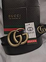 Женский брендовый кожаный ремень Gucci 30 мм., реплика 930925